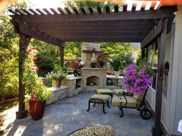 Fire places fire pits everything outdoors of tulsa for Outdoor living areas with fireplaces