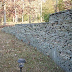 Thin Stack Stone Wall BrokenArrow, Ok
