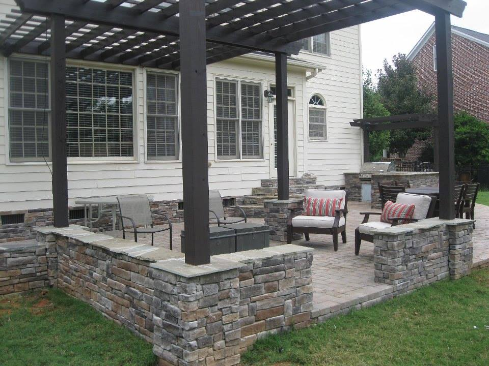 paver patio with pergola. Exellent With Stone U0026 Paver Patios Intended Patio With Pergola G