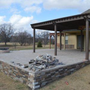 Retaining Wall & Pavilion