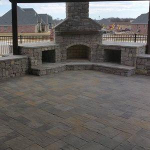 Jenks, OK - Outdoor Fireplace