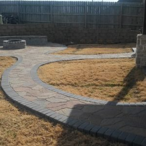 Paver Walkway Leading to Firepit