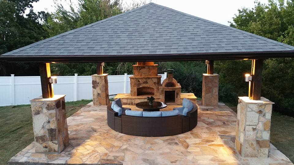 Outdoor living areas everything outdoors of tulsa for Outdoor living areas with fireplaces