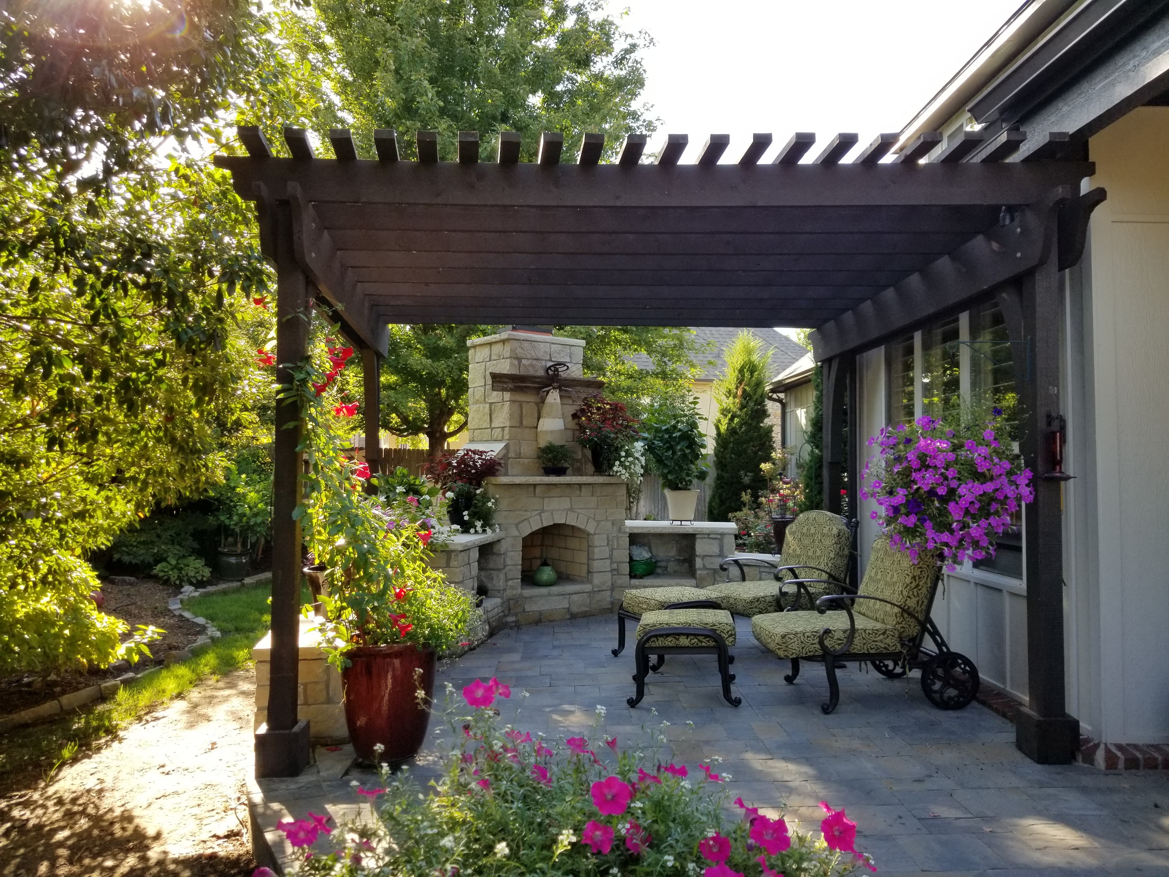 patios kansas landscaping breathtaking city residential walkways designs and patio rosehill pictures gardens walkway