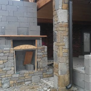 Outdoor Fireplace in Tulsa
