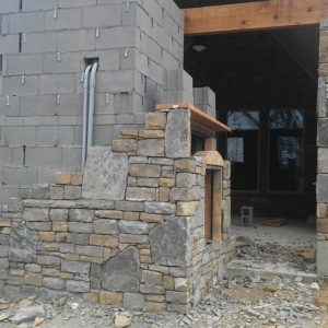 Outdoor Fireplace & Kitchen in Broken Arrow