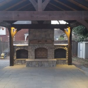 Custom Outdoor Living Fireplace Tulsa
