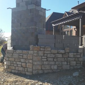 Stone Masonry on Fireplace in Broken Arrow OK