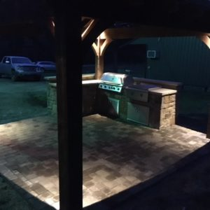 Outdoor Kitchen Night Picture