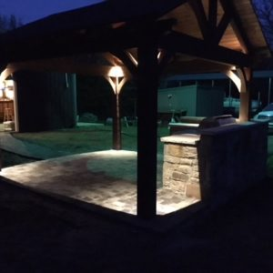 Stone Outdoor Kitchens and BBQs Night Pic