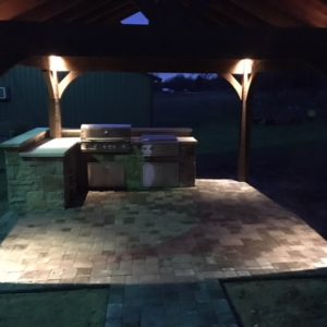 Outdoor Kitchen Night Pic