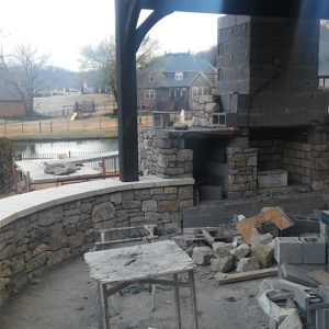 Backyard Patio & Outdoor Fireplace Builder In Tulsa