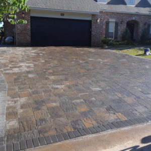 Paver Driveway and Landscaping Tulsa