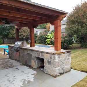 Covered Pergola and Outdoor Kitchen in Broken Arrow, Oklahoma