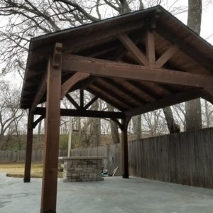 Outdoor Cedar Pavilion Broken Arrow Oklahoma