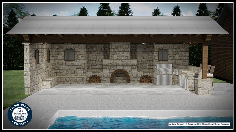 Outdoor Patio and Fireplace Installation Belgard Tulsa