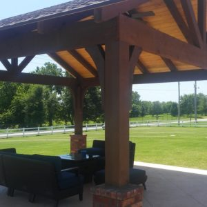 Cedar Pavilions Installation in Tulsa and Broken Arrow OK