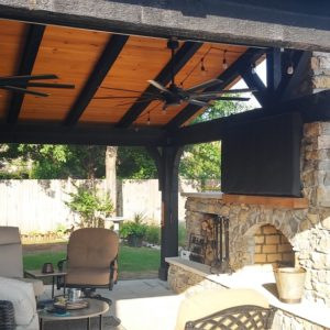 Outdoor Pavilion and Fireplace Installers