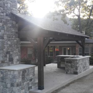 Outdoor Fireplace and Kitchen Jenks OK