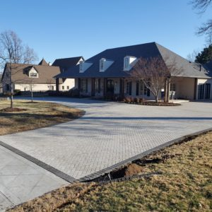 New Paver Driveway installed in Tulsa