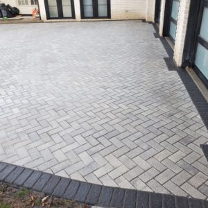 Paver Driveway with Coping Tulsa OK