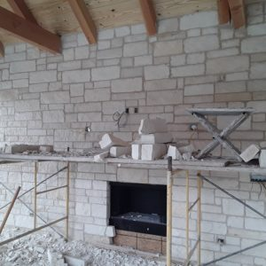 Outdoor fireplace and stone Broken Arrow OK
